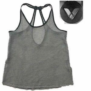 LIVI Athletic Black and White Mesh V Logo Medium